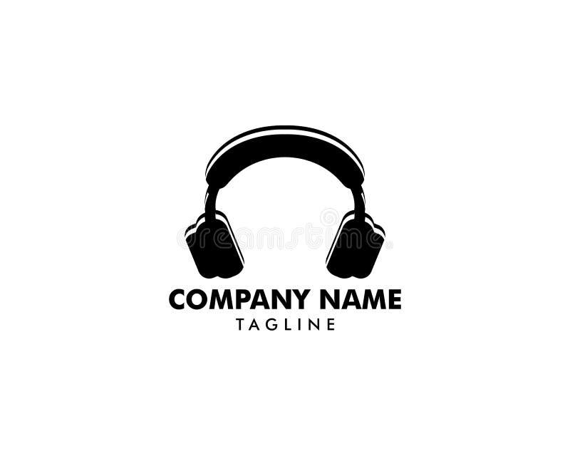 Icône d'écouteur, logo d'écouteur illustration de vecteur