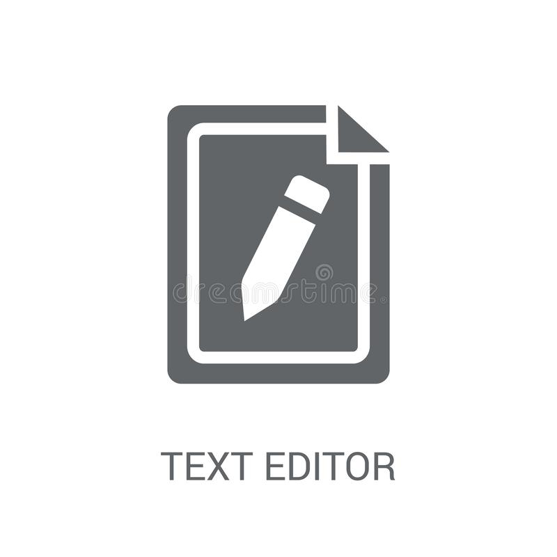 Icône d'éditeur de texte  illustration stock