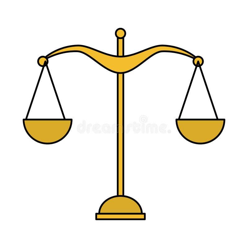 Icône d'égalité d'équilibre d'échelle illustration de vecteur