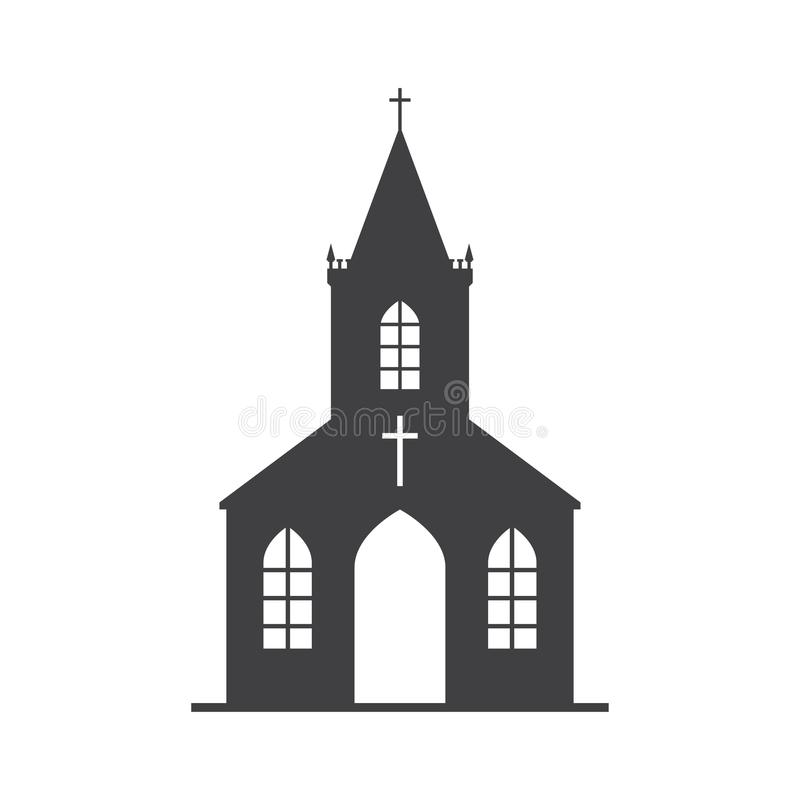 Icône d'église de vecteur illustration libre de droits