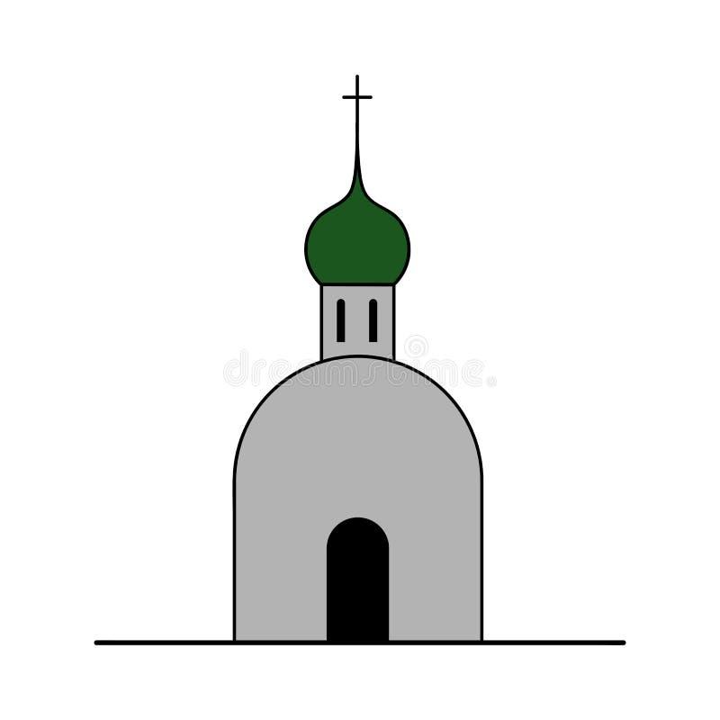 Icône d'église orthodoxe illustration de vecteur