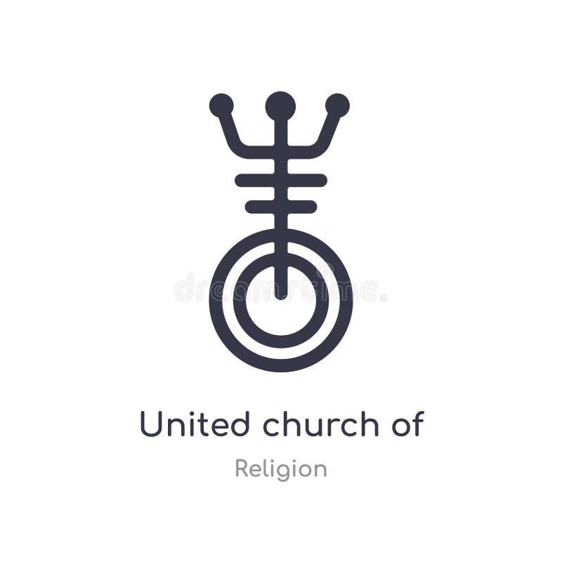 icône d'Église Unie du Christ illustration d'isolement de vecteur d'icône d'Église Unie du Christ de collection de religion edita illustration libre de droits
