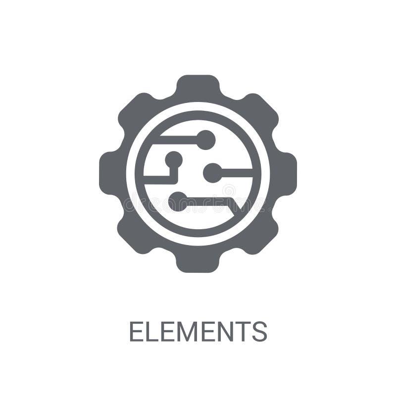 Icône d'éléments  illustration de vecteur