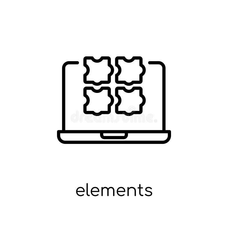 Icône d'éléments Icône linéaire plate moderne à la mode d'éléments de vecteur dessus illustration de vecteur