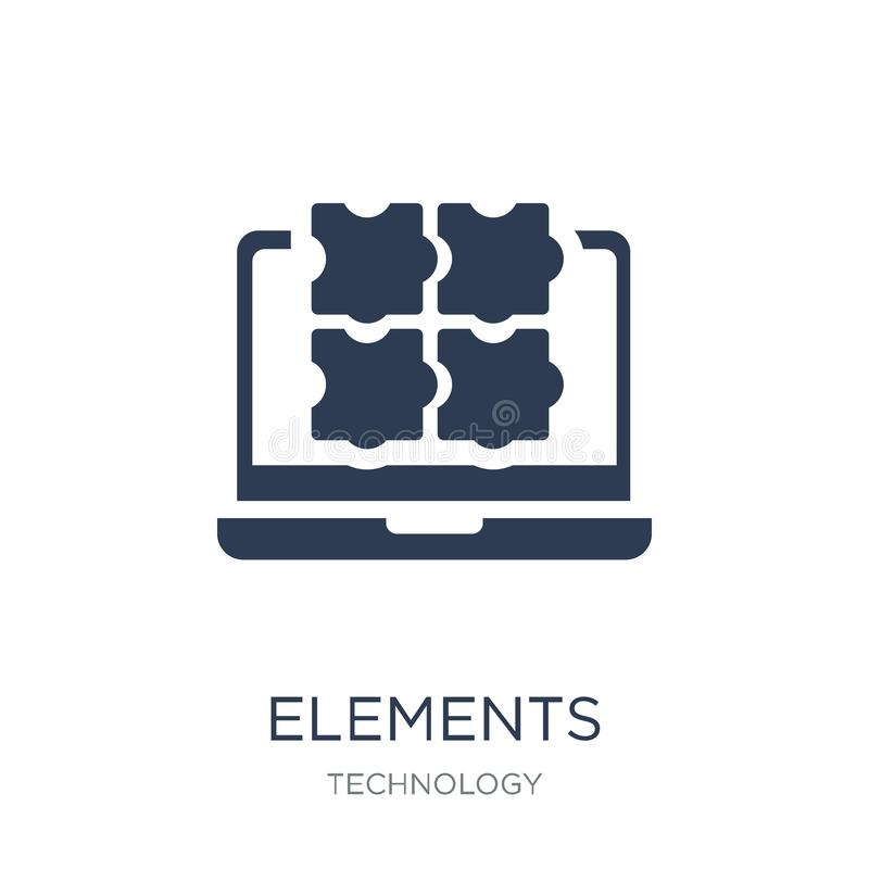 Icône d'éléments Icône plate à la mode d'éléments de vecteur sur le backgro blanc illustration stock