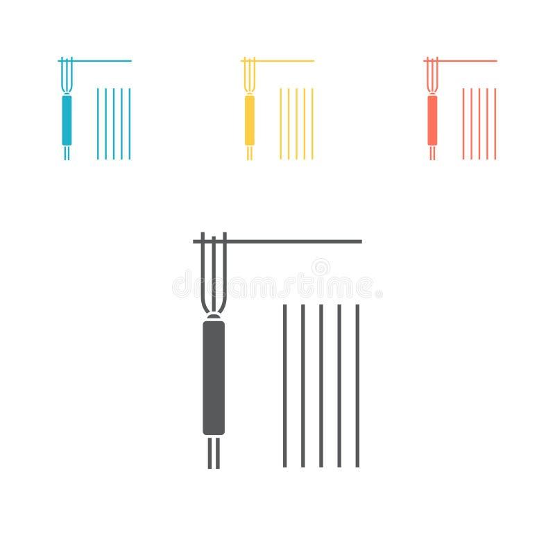 Icône d'électrode de soudure Signe de vecteur pour le graphique de Web illustration libre de droits