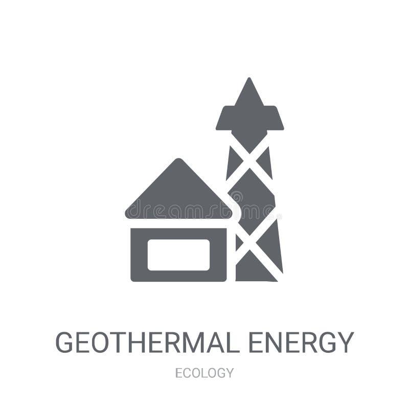 Icône d'énergie géothermique  illustration libre de droits