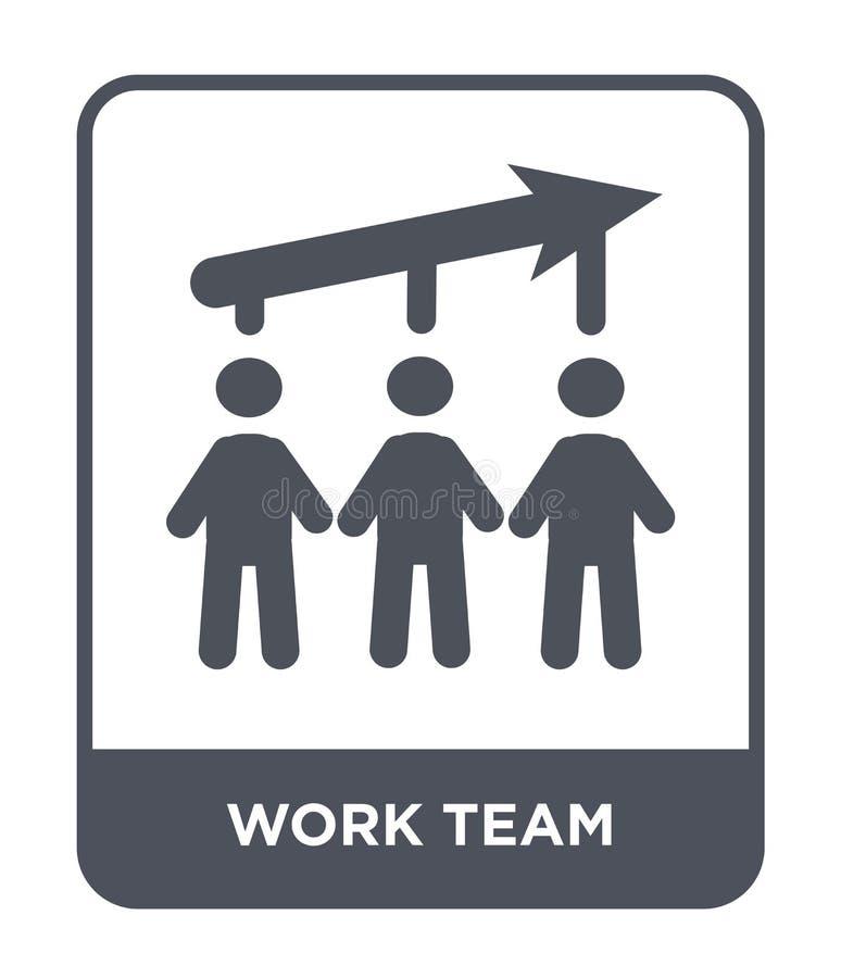 icône d'équipe de travail dans le style à la mode de conception icône d'équipe de travail d'isolement sur le fond blanc apparteme illustration libre de droits