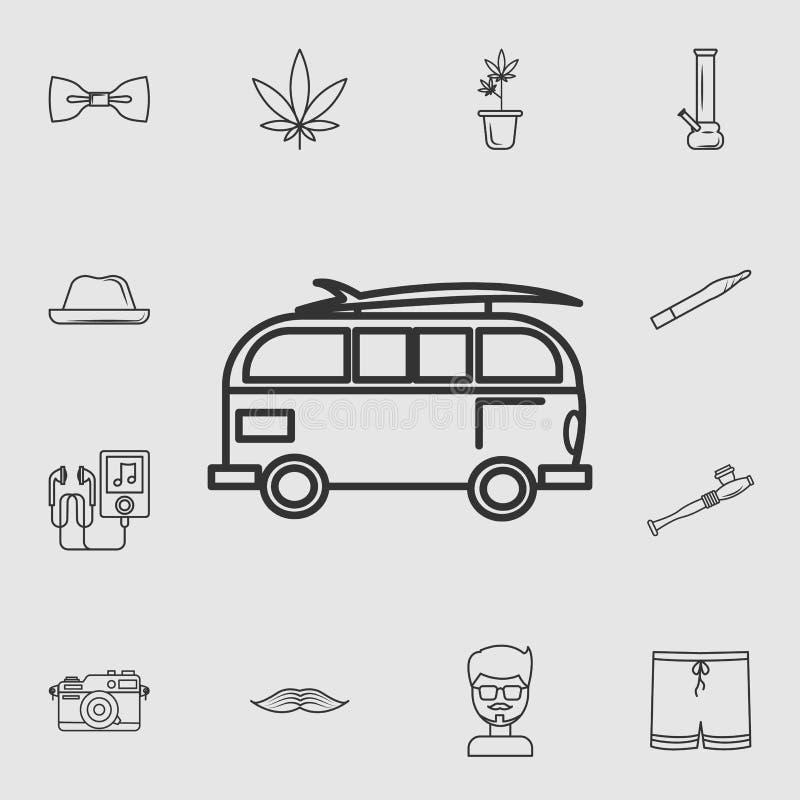 Icône d'icône d'équitation de monospace de style ancien Ensemble détaillé d'icônes de style de vie Conception graphique de qualit illustration libre de droits