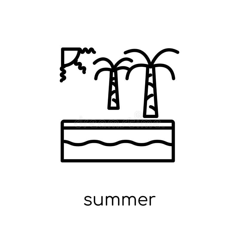 Icône d'été de collection illustration libre de droits