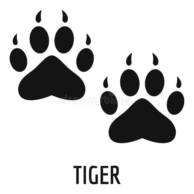 Icône d'étape de tigre, style simple image libre de droits