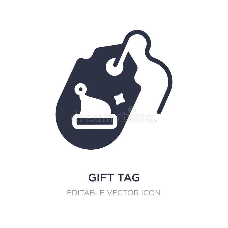 icône d'étiquette de cadeau sur le fond blanc Illustration simple d'élément de concept de Noël illustration de vecteur