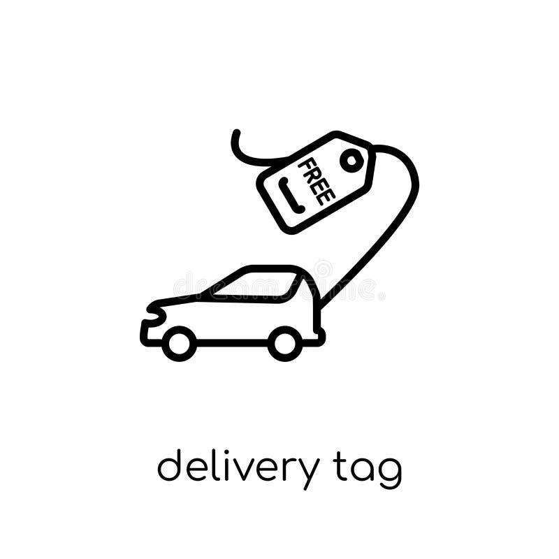 Icône d'étiquette de la livraison  illustration de vecteur