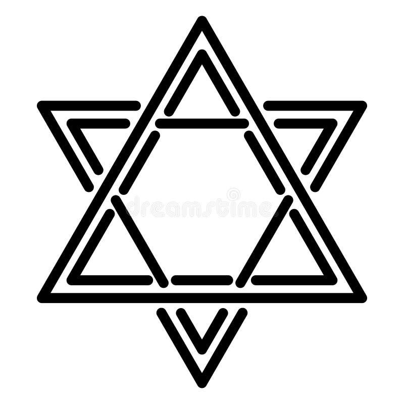 Icône d'étoile de David, style d'ensemble illustration de vecteur
