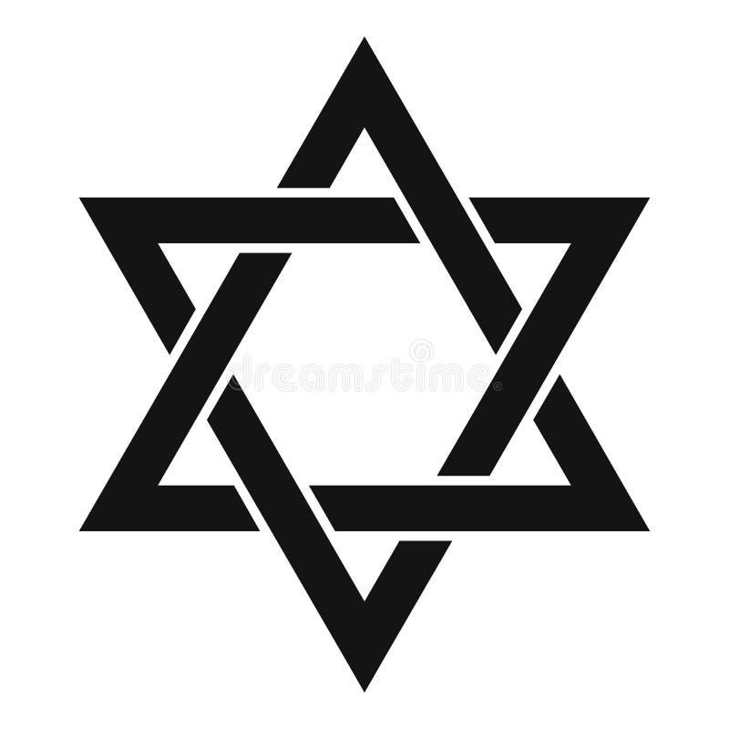 Icône d'étoile de David, style simple illustration de vecteur