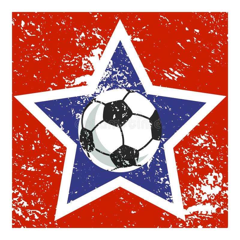 Icône d'étoile du football illustration de vecteur