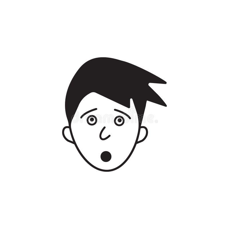 icône d'étonnement Élément d'illustration humaine d'éléments d'émotions Icône de la meilleure qualité de conception graphique de  illustration libre de droits