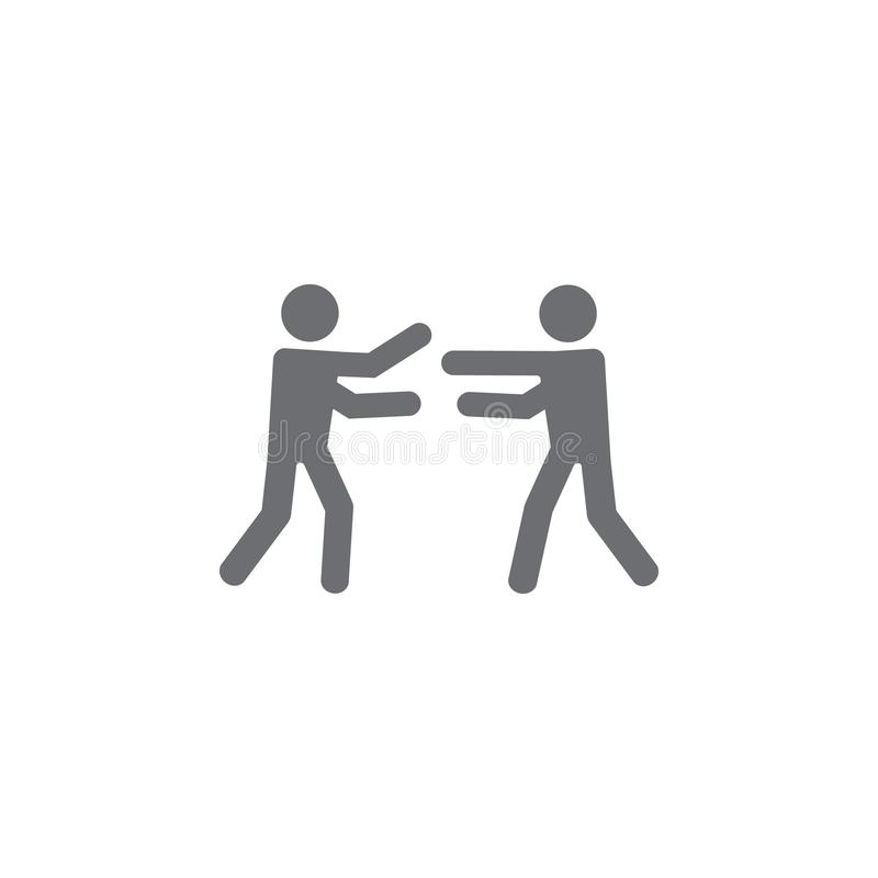 icône d'étreinte Illustration simple d'élément calibre de conception de symbole d'étreinte Peut être employé pour le Web et le mo illustration de vecteur