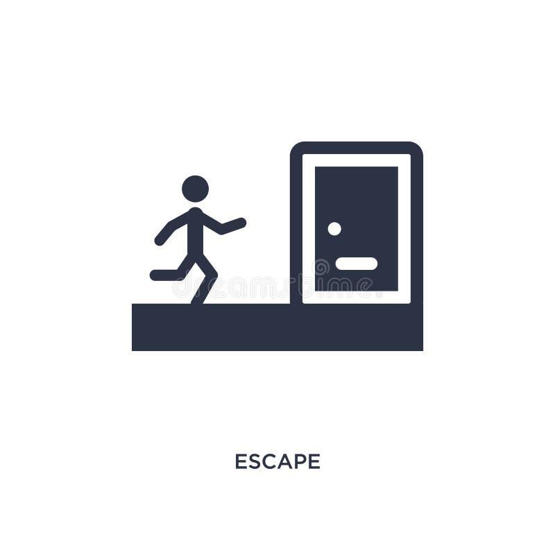 icône d'évasion sur le fond blanc Illustration simple d'élément de concept de loi et de justice illustration libre de droits