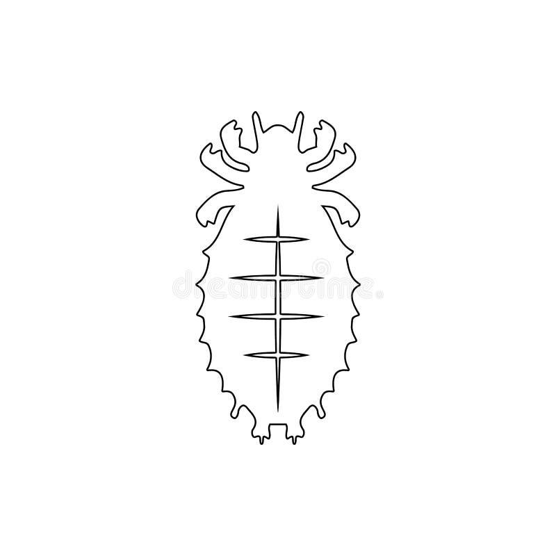 Icône d'acarides Élément d'insecte pour le concept et l'icône mobiles d'applis de Web Ligne mince icône pour la conception de sit illustration libre de droits