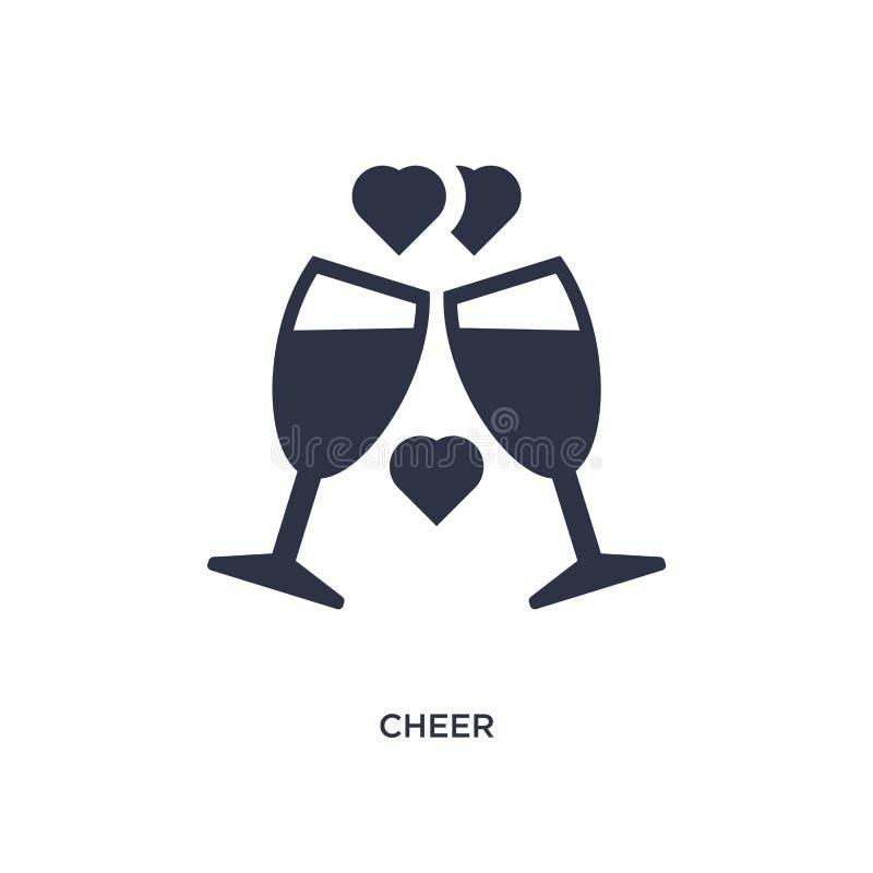 icône d'acclamation sur le fond blanc Illustration simple d'élément de l'amour et du concept de épouser illustration stock
