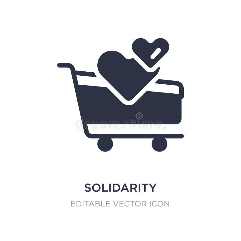 icône d'achat de solidarité sur le fond blanc Illustration simple d'élément de concept de commerce illustration de vecteur