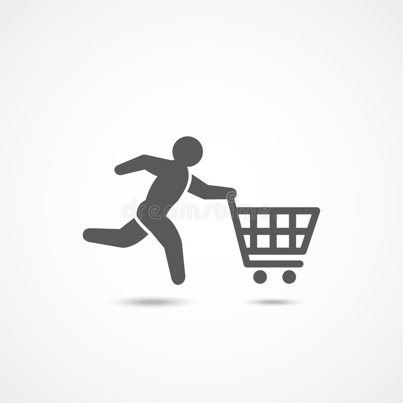 Icône d'acheteur sur le blanc illustration libre de droits
