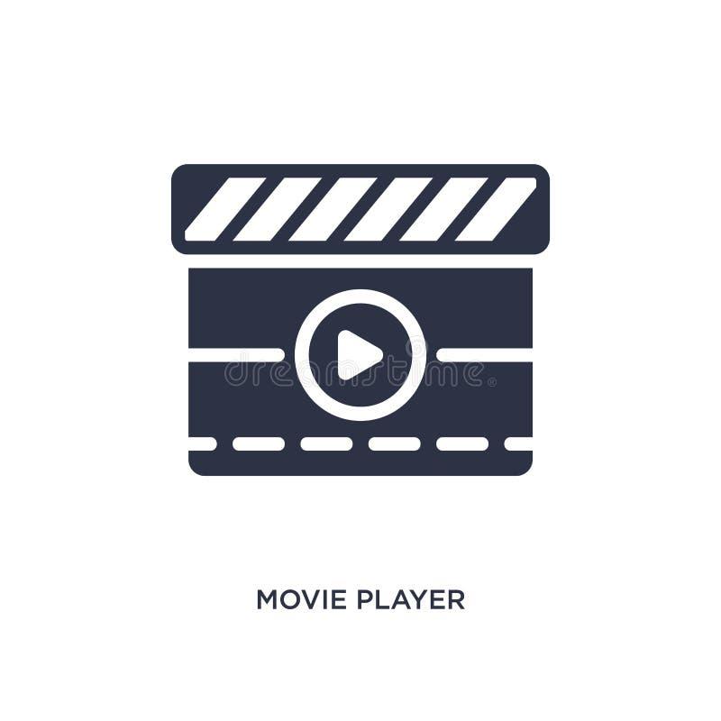 icône d'acteur de cinéma sur le fond blanc Illustration simple d'élément de concept de cinéma illustration de vecteur
