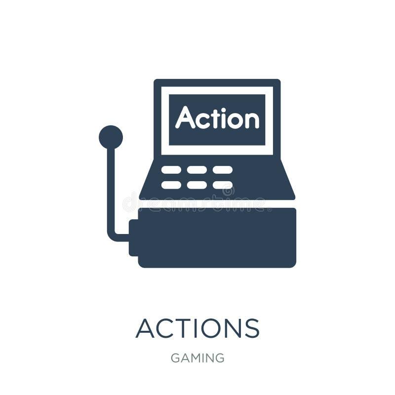 icône d'actions dans le style à la mode de conception Icône d'actions d'isolement sur le fond blanc symbole plat simple et modern illustration de vecteur