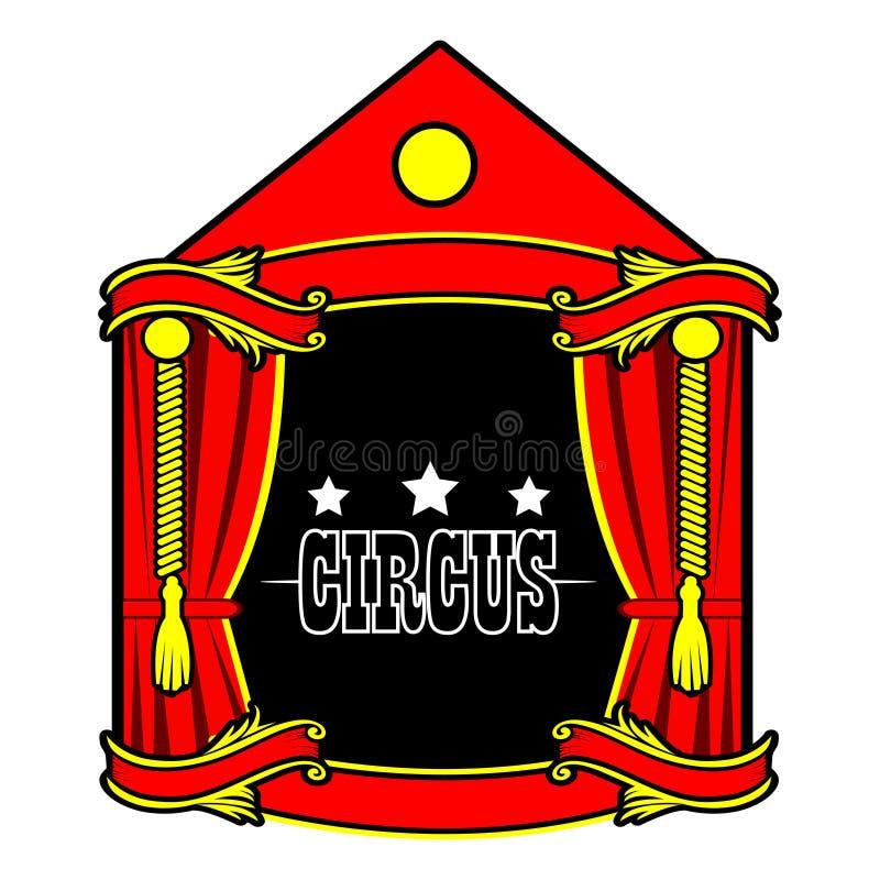 Icône d'actions de tente de cirque Conception plate illustration stock
