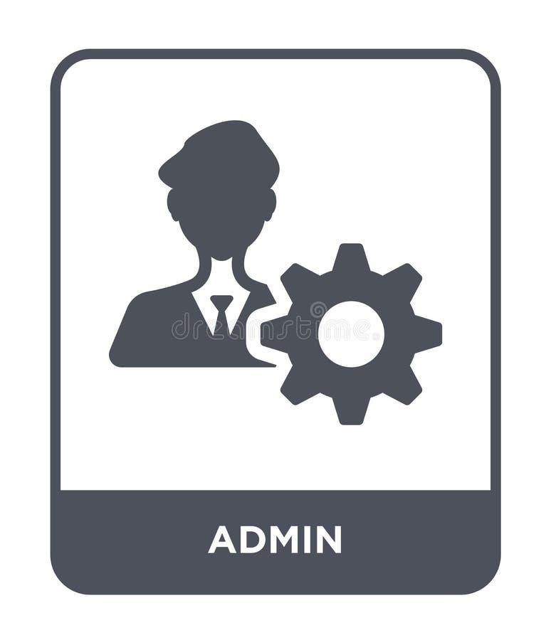 icône d'admin dans le style à la mode de conception icône d'admin d'isolement sur le fond blanc symbole plat simple et moderne d' illustration libre de droits