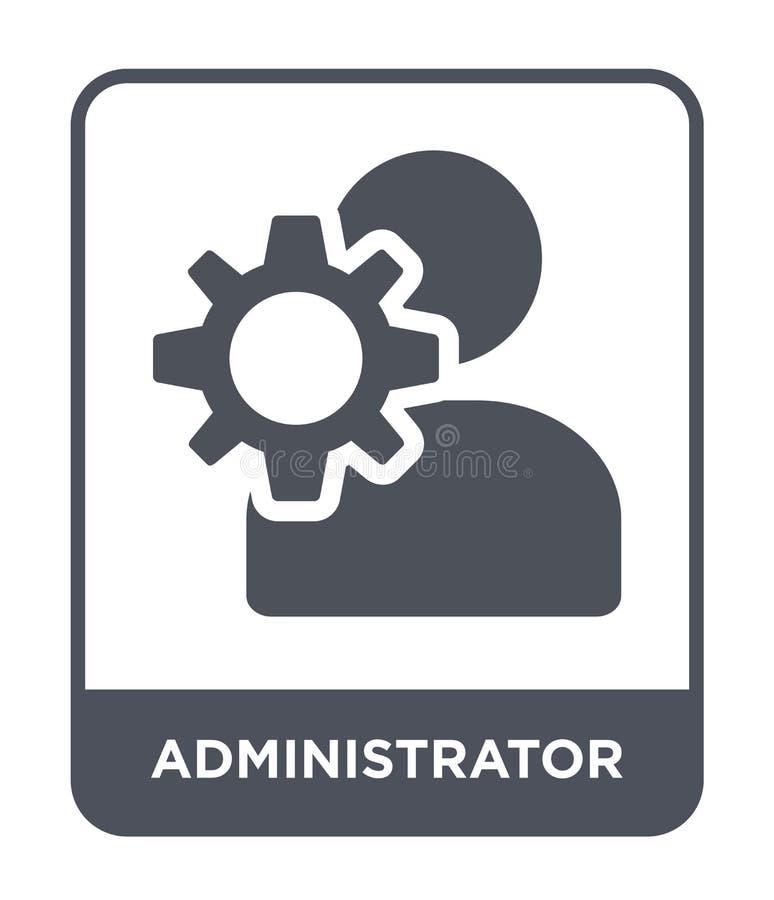 icône d'administrateur dans le style à la mode de conception Icône d'administrateur d'isolement sur le fond blanc icône de vecteu illustration stock