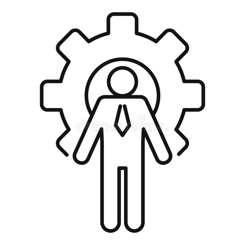 Icône d'administration de la roue d'engrenage, style hiérarchique illustration de vecteur