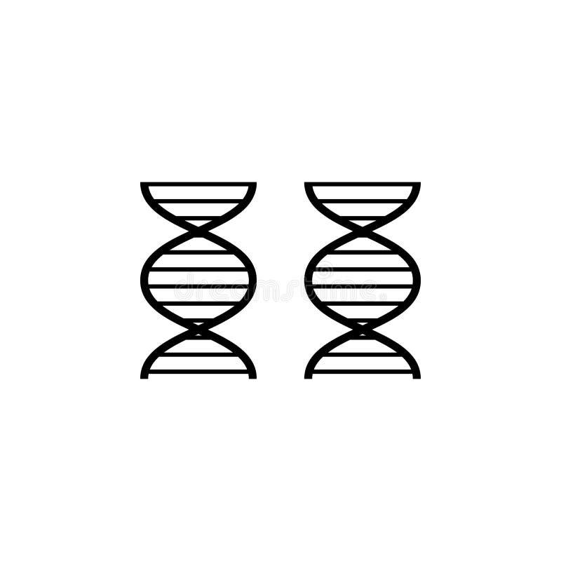 Icône d'ADN, vecteur d'icône d'ADN, dans le style plat à la mode d'isolement sur le fond blanc Image d'icône d'ADN, icône d'ADN illustration de vecteur