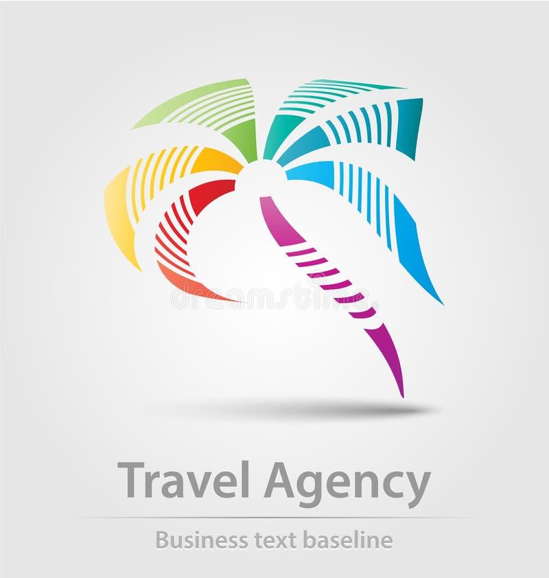 Icône d'affaires d'agence de voyages illustration stock