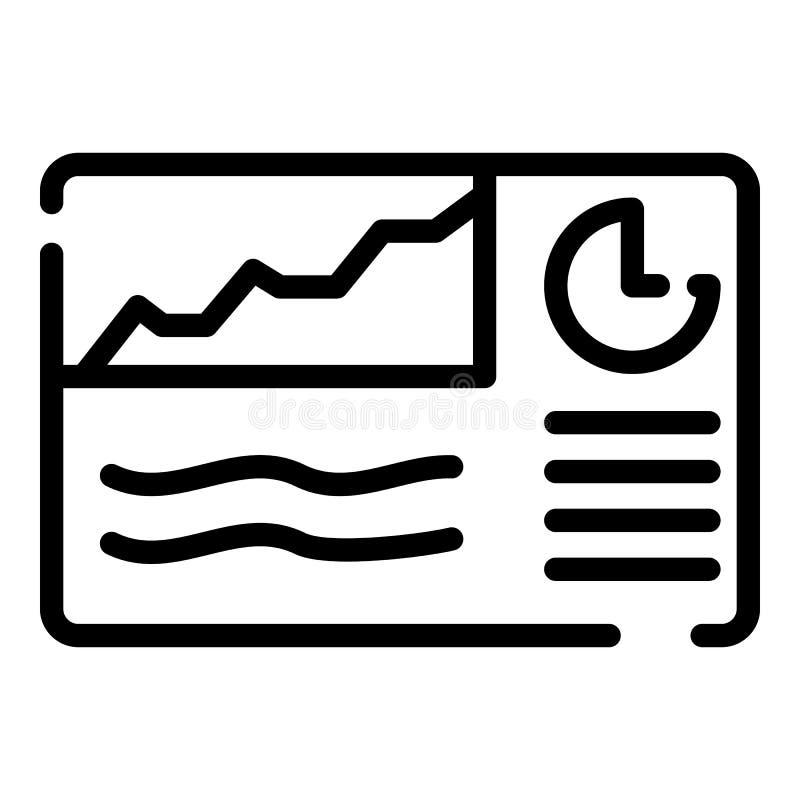 Icône d'affiche de diagramme de finances, style d'ensemble illustration stock