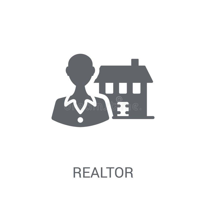 Icône d'agent immobilier  illustration libre de droits