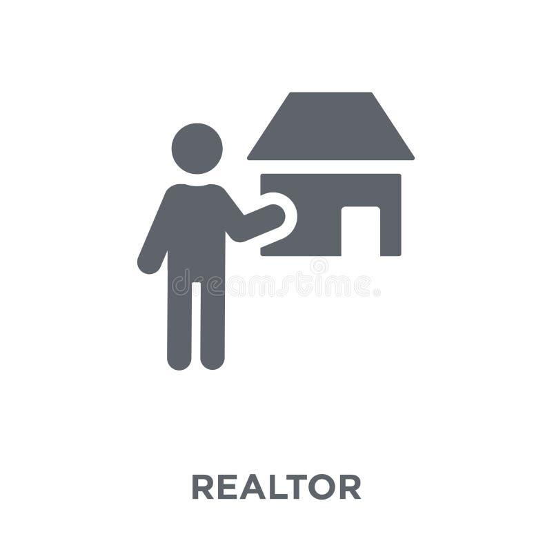 Icône d'agent immobilier de collection d'immobiliers illustration libre de droits