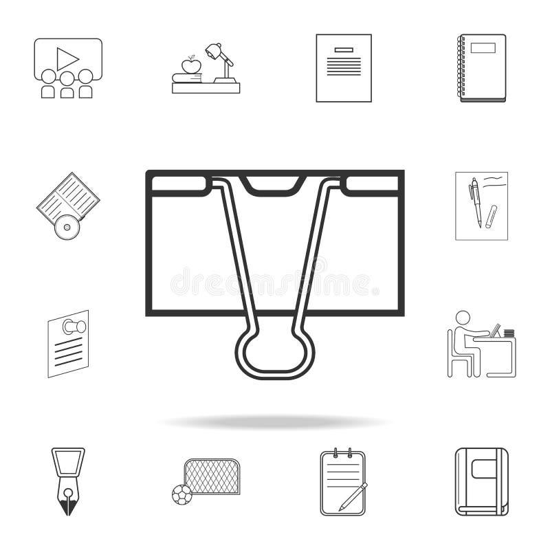 Icône d'agrafe de reliure Ensemble détaillé d'icônes d'ensemble d'éducation Conception graphique de qualité de la meilleure quali illustration de vecteur