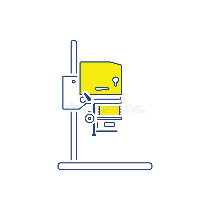 Icône d'agrandisseur de photo illustration de vecteur