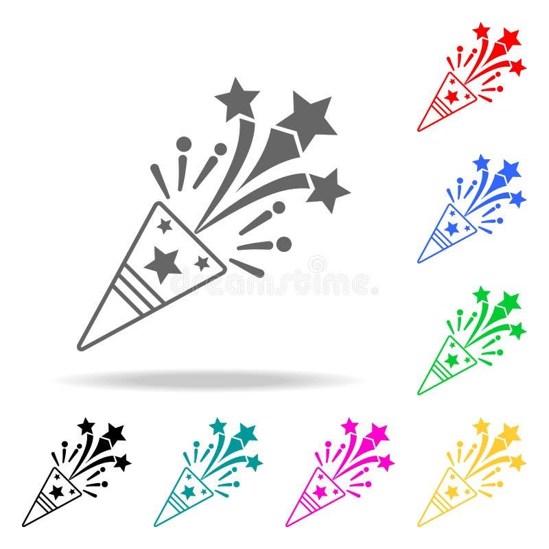 Icône d'aileron Éléments des icônes colorées multi de partie Icône de la meilleure qualité de conception graphique de qualité Icô illustration libre de droits