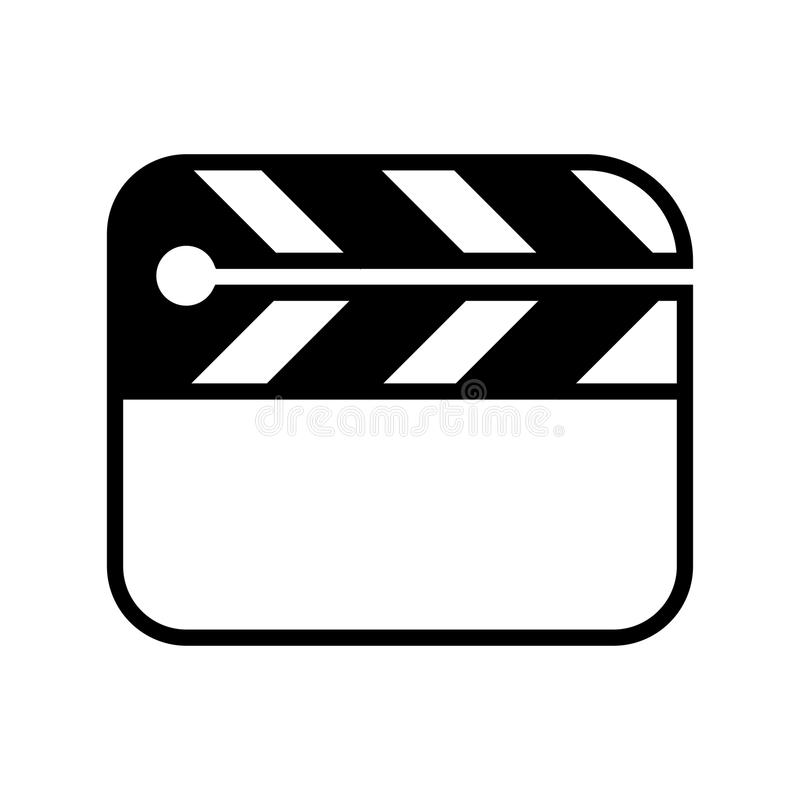 Icône d'aileron de cinéma illustration libre de droits