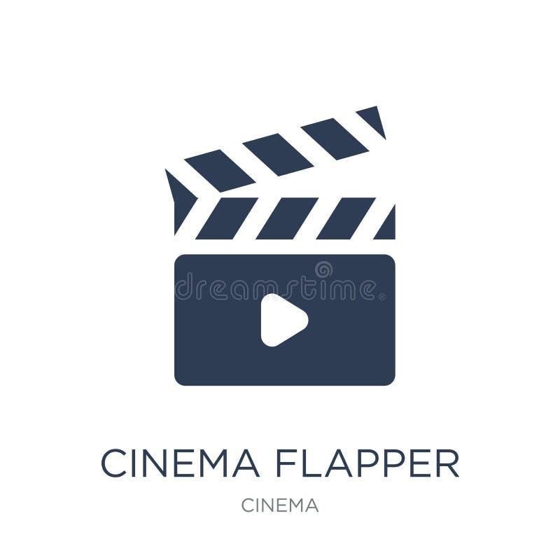 Icône d'aileron de cinéma  illustration de vecteur