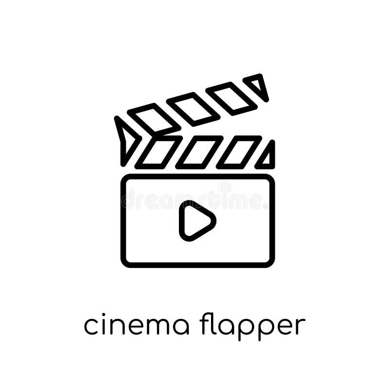 Icône d'aileron de cinéma  illustration stock