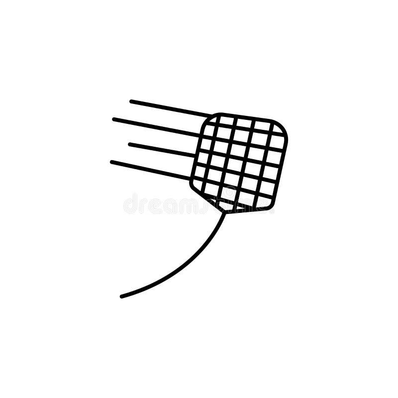 icône d'aileron d'exterminateur Élément d'icône de parasite pour les apps mobiles de concept et de Web La ligne mince icône d'ail illustration libre de droits