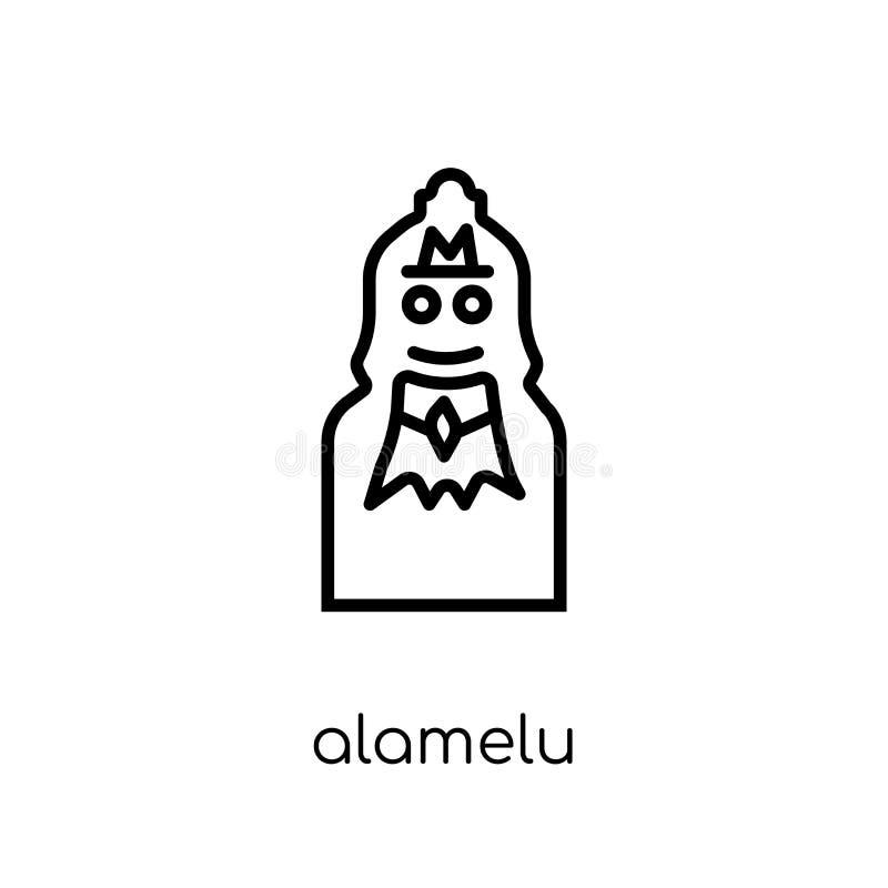 Icône d'Alamelu Icône linéaire plate moderne à la mode d'Alamelu de vecteur sur W illustration libre de droits