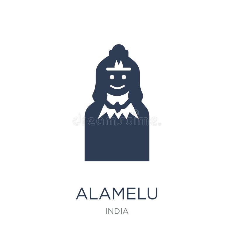 Icône d'Alamelu Icône plate à la mode d'Alamelu de vecteur sur le backgroun blanc illustration stock