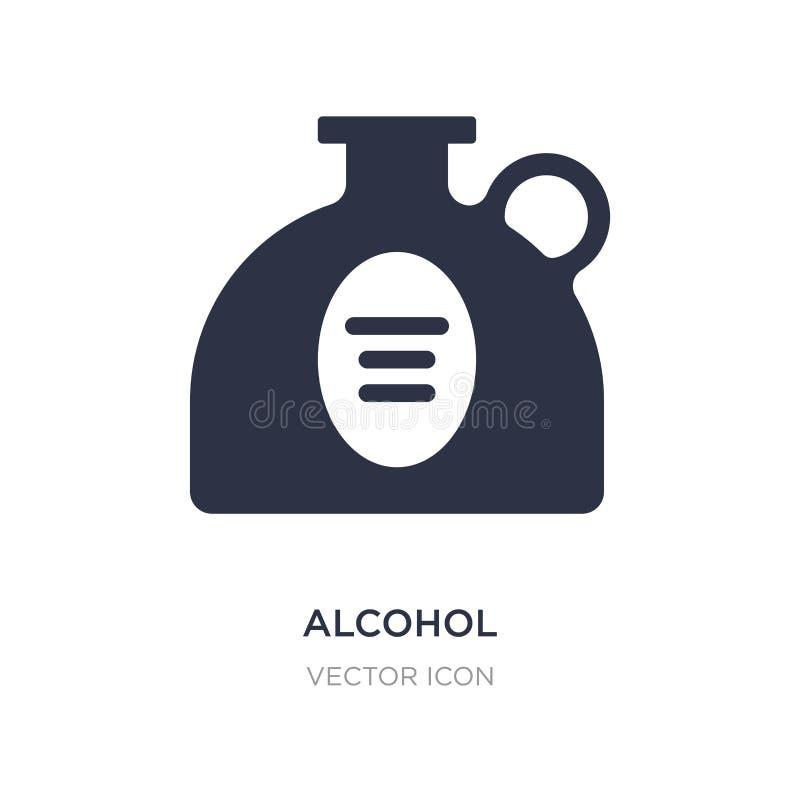 icône d'alcool sur le fond blanc Illustration simple d'élément de concept de boissons illustration libre de droits