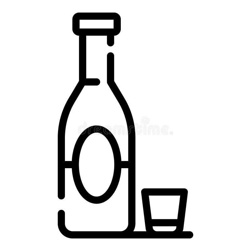 Icône d'alcoolisme, style d'ensemble illustration stock