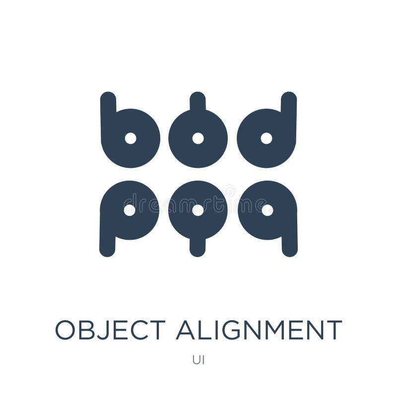 icône d'alignement d'objet dans le style à la mode de conception icône d'alignement d'objet d'isolement sur le fond blanc icône d illustration stock